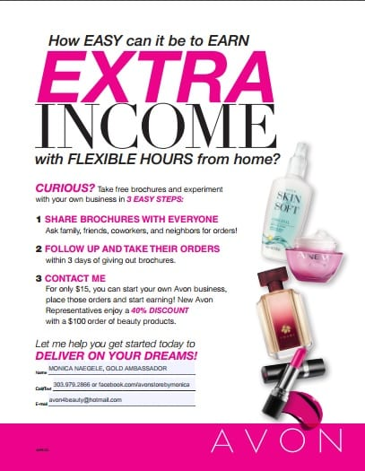 earn money with avon