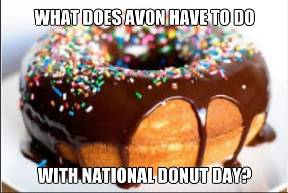 Avon Free Shipping on National Donut Day