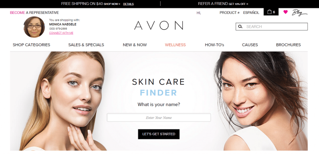 avon skin care finder