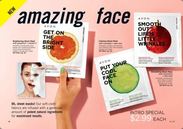 Avon Sheet Masks