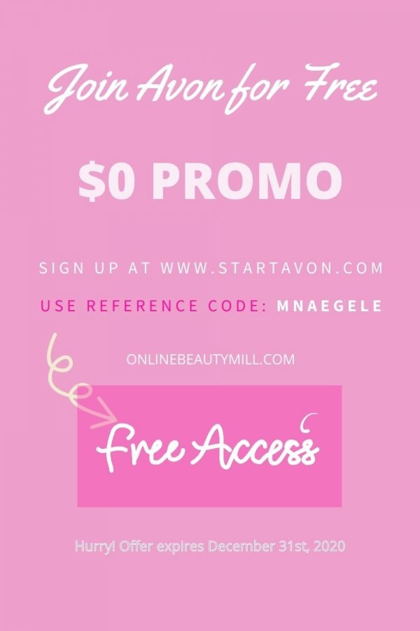Avon Free Sign Up promotion