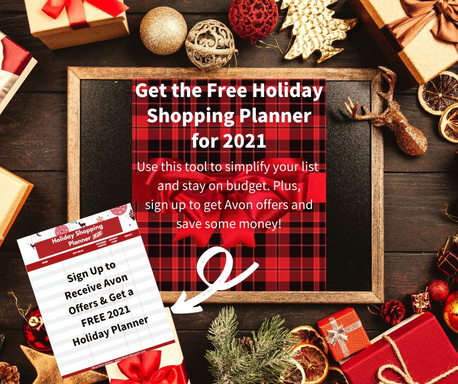 Avon Holiday Shopping Planner